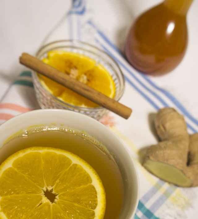 Orangen Sirup mit Ingwer und Zimt