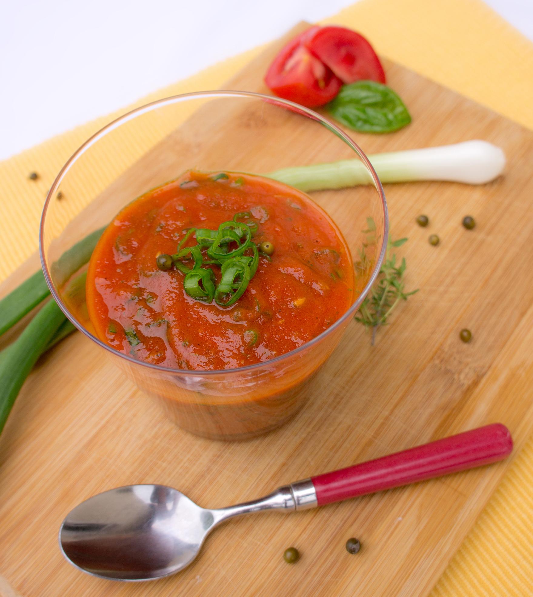 Tomaten BBQ Sauce mit grünem Pfeffer