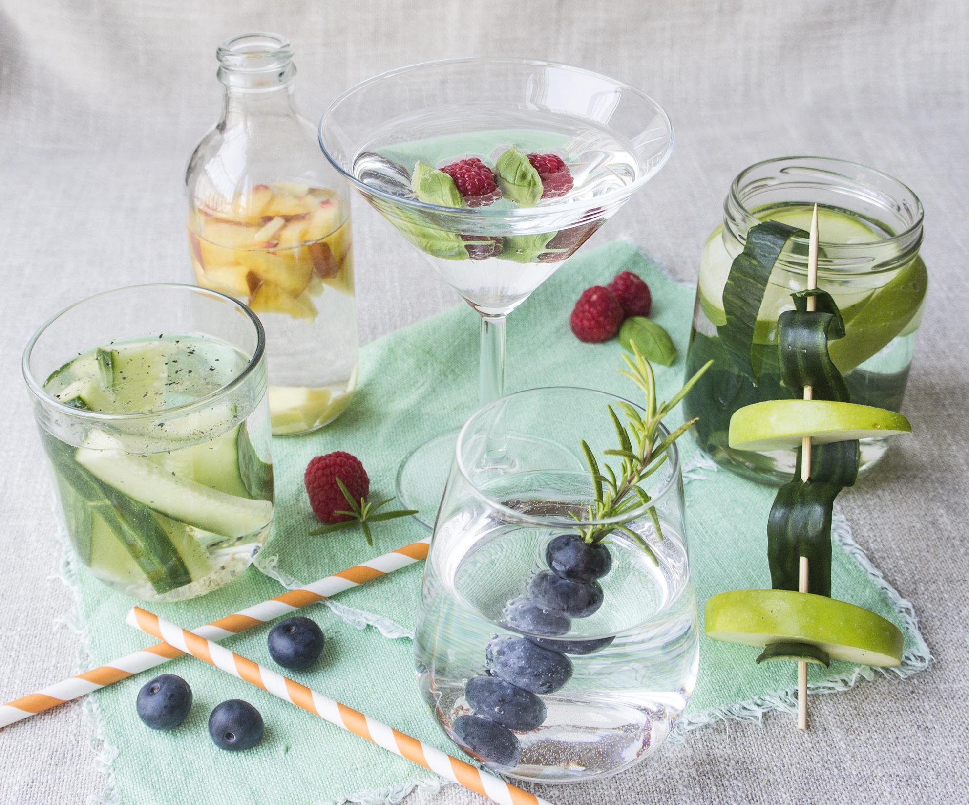 Aroma-Wasser fruchtig bis würzig